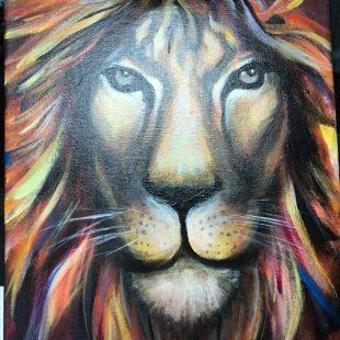 Artist: Elaine Wheeler  Title: Lion Medium: Acrylic Price: $325 Estimated Size: 11x17