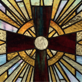 Jennifer Mamer 'Pray' stained glass