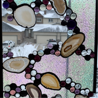 Jennifer Mamer 'ripple' stained glass