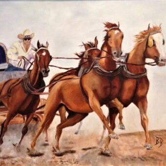 Bonnie Bishop 'chuck wagon race' oil